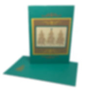 bright christmas tree blank greeting card