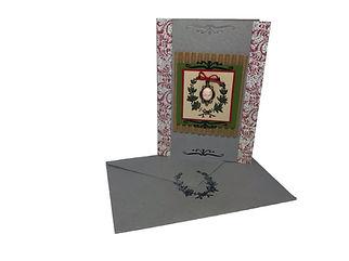 silver victorian inspired cameo chrismas card blank