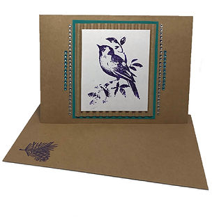 chickadee bird christmas card blank