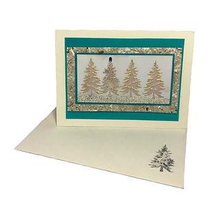 ivory christmas tree blank greeting card