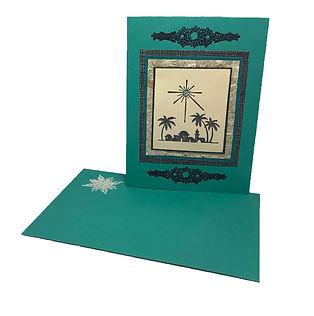bethlehem star christmas card blank