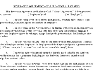 A quick reminder on the effect of a general release in a severance agreement