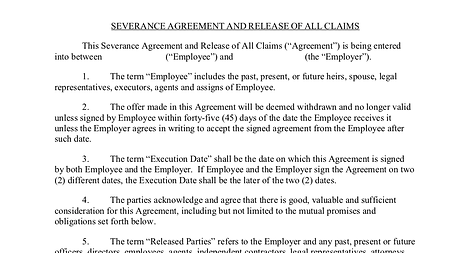 Doorways employment law massachusetts severance agreement attorney massachusetts severance agreement and release of all claims platinumwayz