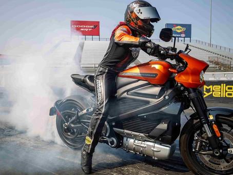 La Harley-Davidson Livewire bate récord mundial de aceleración con moto eléctrica