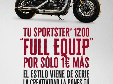 """SOLO NECESITAS 1€ PARA LLEVARTE LA NUEVA SPORTSTER® 1200 """"FULL EQUIP"""""""