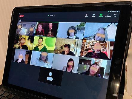 Atelier numérique - participants (flouté