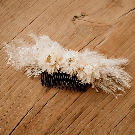 Haarkam met droogbloemen