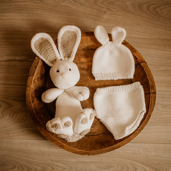 "Newborn foto-prop : ""Everybunny loves me!"" (set)"