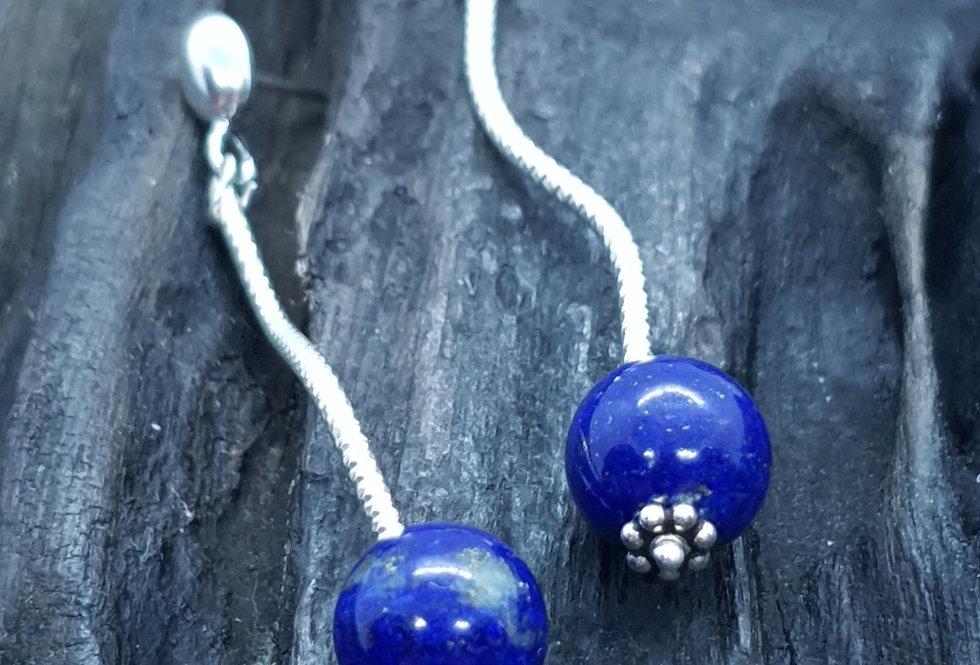 Ørestikkere med lapis lazuli