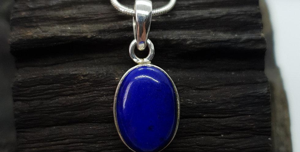 sølvhalskæde med lapis lazuli