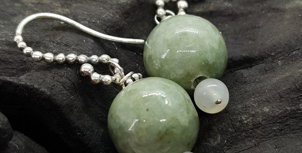 Ørehængere med jade