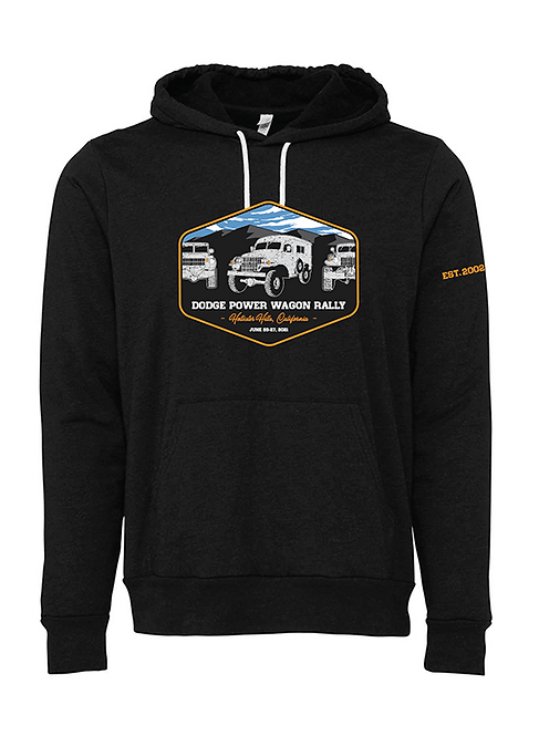 2021 Unisex Hooded Pullover Sweatshirt