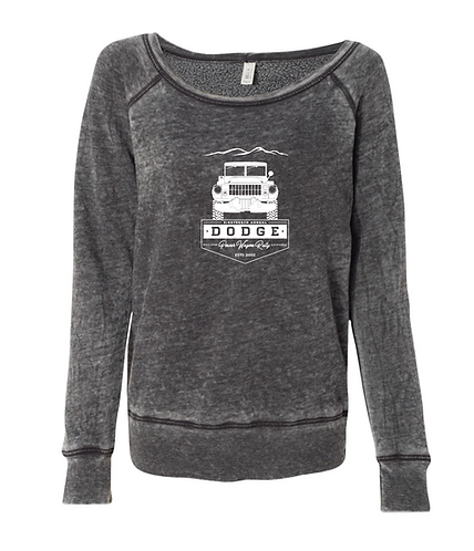 Ladies' Fleece Wide Neck Sweater