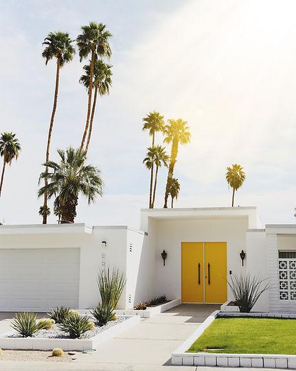 Yellow door Palm Springs