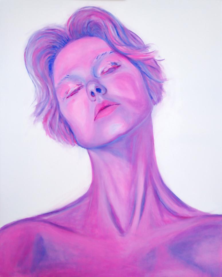 Self-portrait in pink