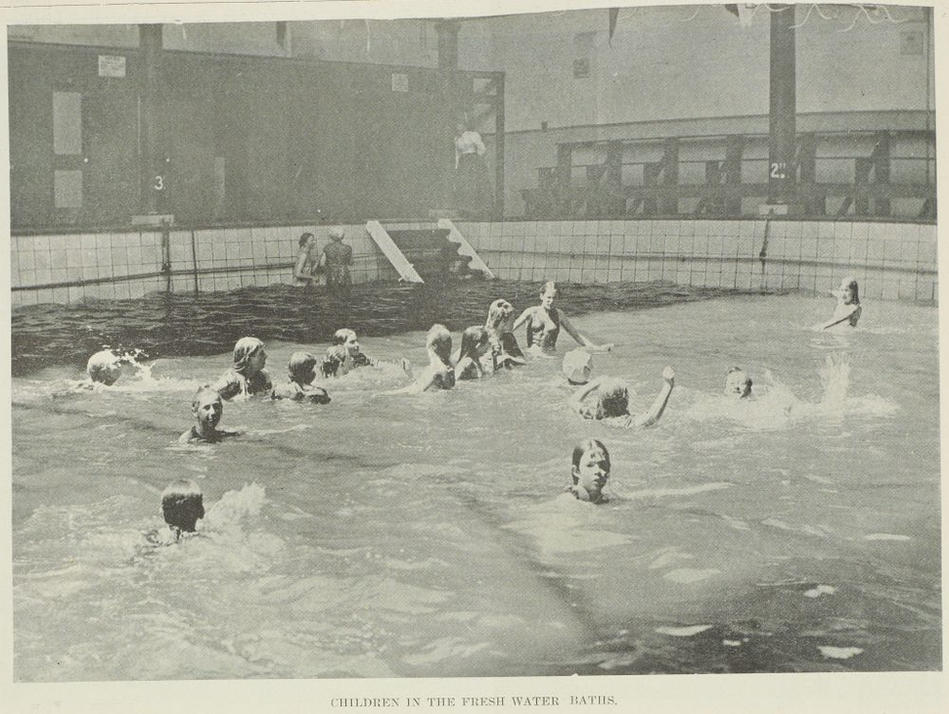 Bathhouse 2: Public baths allowed a range of activities from casual bathing to learning to swim. For those without their own baths at home, some public baths had facilities especially for getting clean.