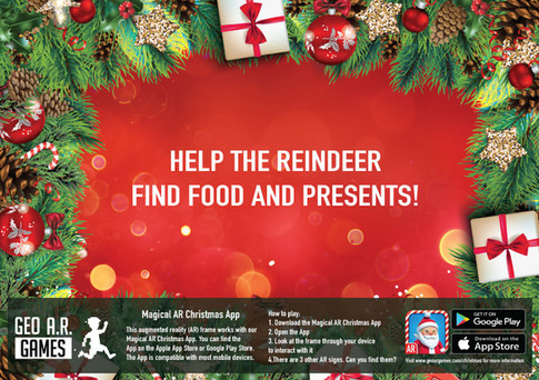 Help the reindeer find food and presents