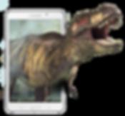 Dinossaur in smartphone   GEO AR Games