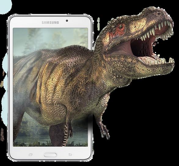 Dinossaur in smartphone | GEO AR Games