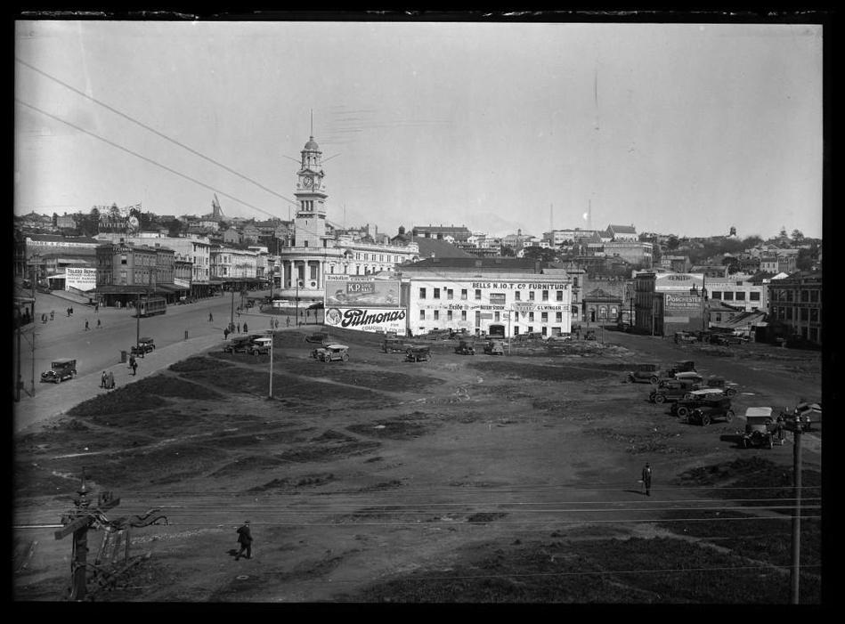 The Auckland Market Hall 4: After demolition in 1921, the site of the market building was earmarked for major public works such as a potential theature or opera house, but a lack of money and will saw it remain a carpark until the 1980's.
