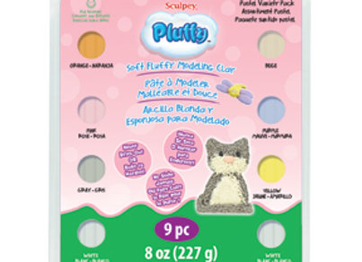 Pluffy Pastel Multi Pack, 8 Colors