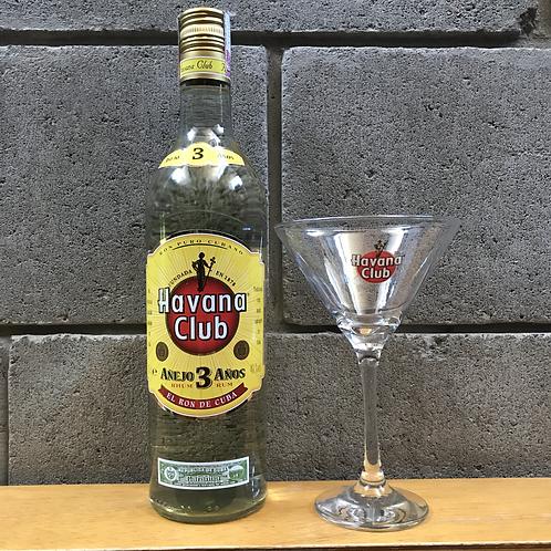 Havana Club 3 anos - Rum + taça