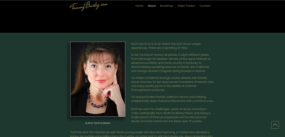 TammyBarley.com about page - PogoFish Me