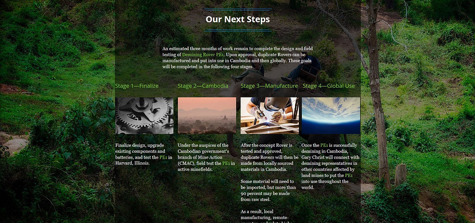Project Demine the Planet  home page 2 -