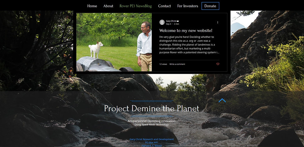 Project Demine the Planet  newsblog page