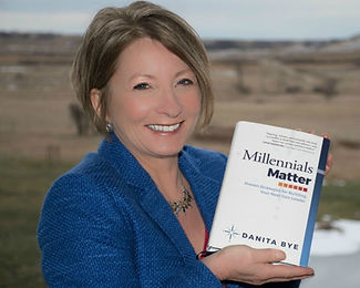 Danita Bye with her book Millennials Mat