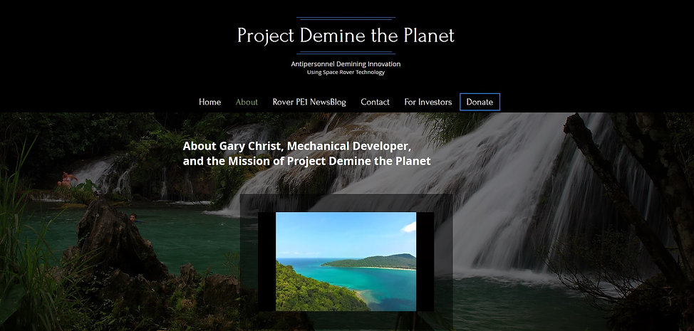 Project Demine the Planet  about page -
