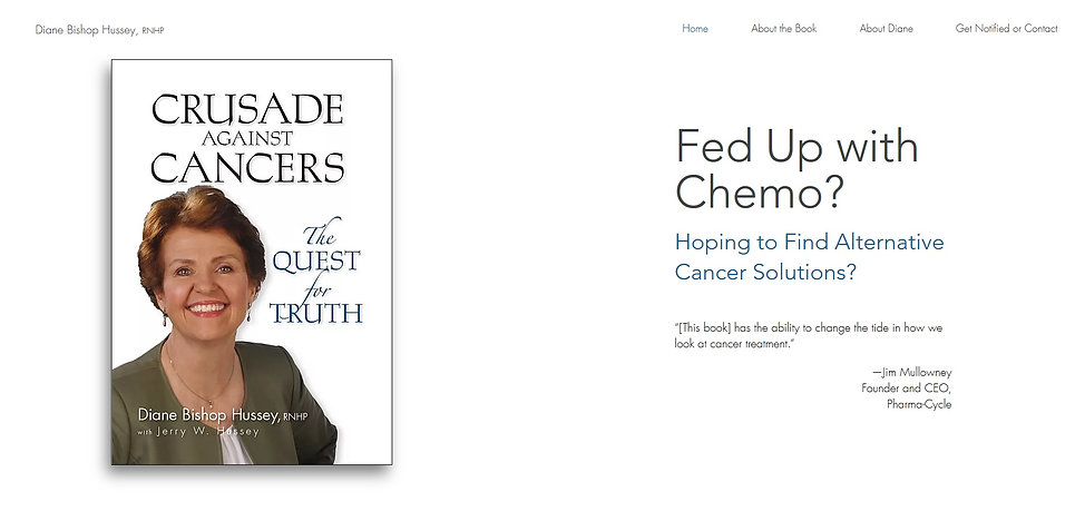 Crusade against Cancers  Book Website  h