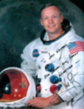 Neil Armstrong autographed photo for Joh