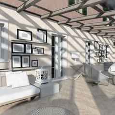 Progetto di recupero con veranda