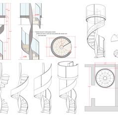 Esecutivi di progetto per scala VORTIKA PLUS by Officine Sandrini