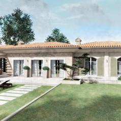 Progetto per villa singola ad un piano in stile provenzale