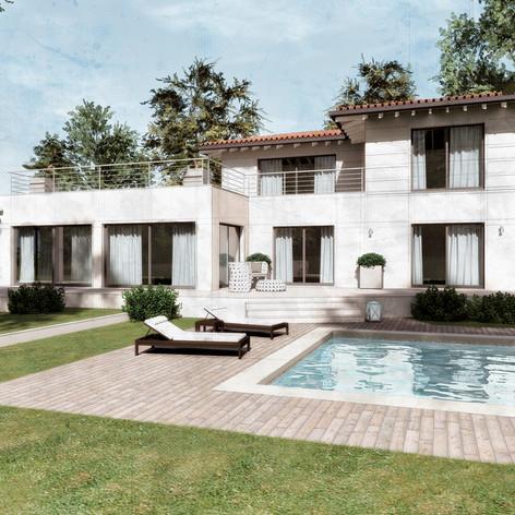 Progetto per villa singola con piscina