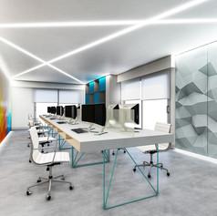 Ufficio programmatori con pannelli video LED
