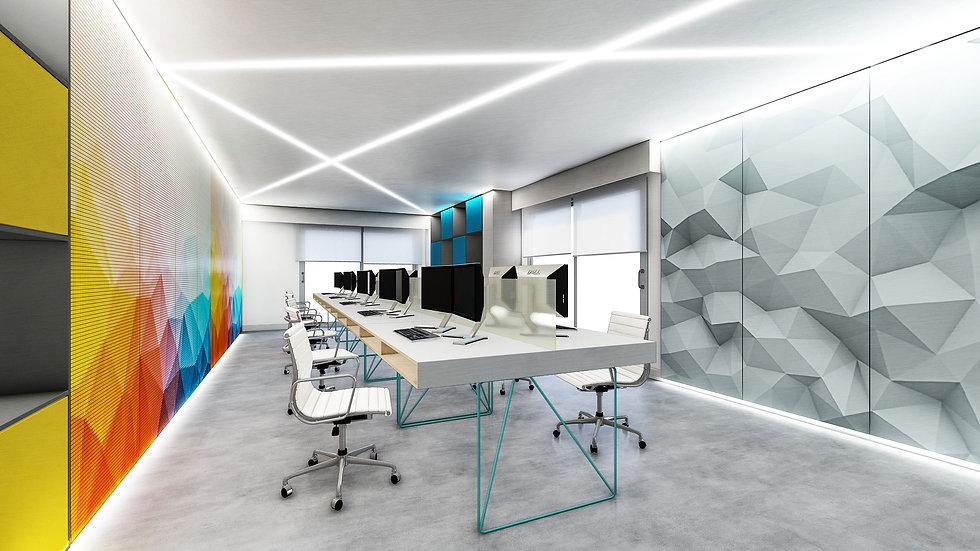 Ufficio programmatori con pannelli video LED - image courtesy of EIDOMATICA | progettazione e servizi | www.eidomatica.com