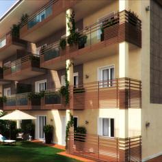 Edificio residenziale con giardini