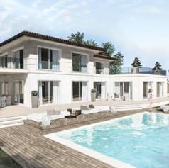 Villa con piscina, pergolati e dependance