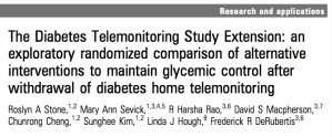 Telemonitoring intervention for diabetes has durable effect: Extension of DiaTel study