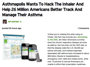 Asthmapolis: Why Can't Inhaler Sensor Be Adapted For Diabetes and Insulin Pens?