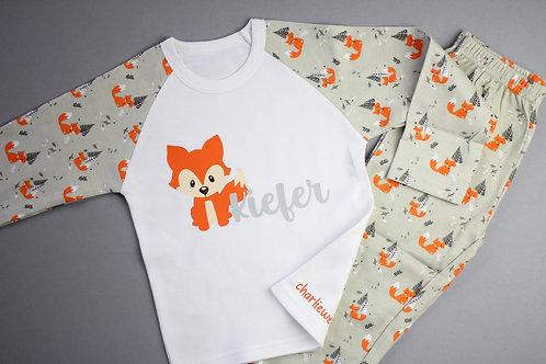 Personalised Fox Pyjamas