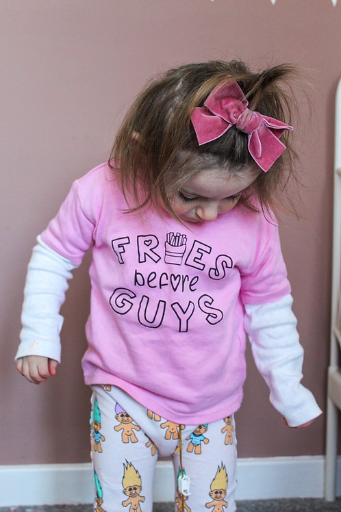 Fries Before Guys Kids Tee
