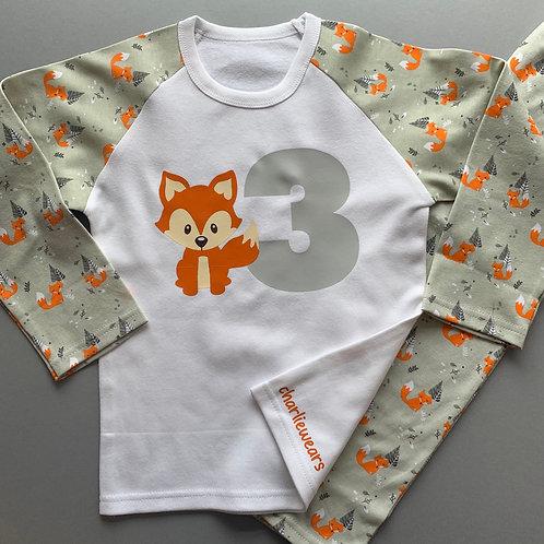 Birthday Fox Pyjamas