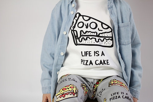 Life Is A Pizza Cake Kids Tee