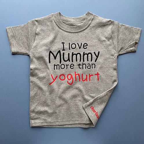 Personalised I Love Mummy Tee