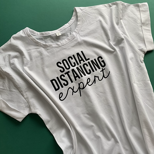 Social Distancing Expert Adult Tee