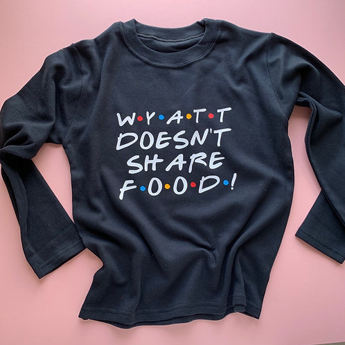 Friends Inspired Doesn't Share Food Tee